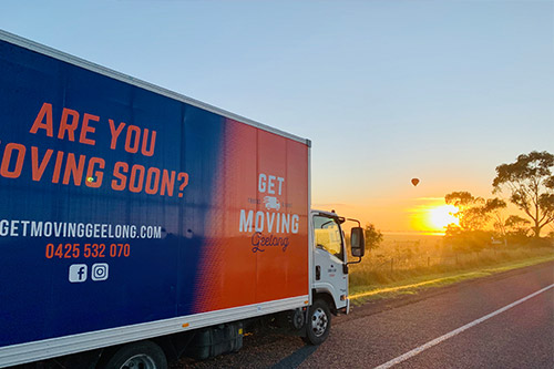 get moving geelong truck driving down the road
