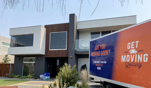 Geelong removalists  truck parked in driveway of clients' home